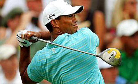Golfaaja Tiger Woods sijoittui toiseksi.