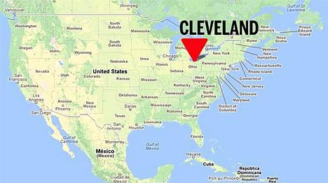 Naiset siepattiin Clevelandissa Ohiossa.