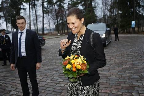 Kruununprinsessa ihastutti 2014 Suomen-vierailullaan Ril'sin mekossa.