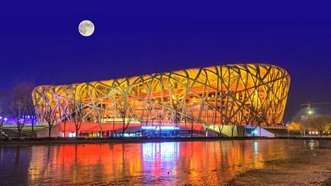 Vuoden 2008 olympialaisten yleisurheilunäyttämönä toimi komea Pekingin kansallinen stadion, lempinimeltään Linnunpesä.