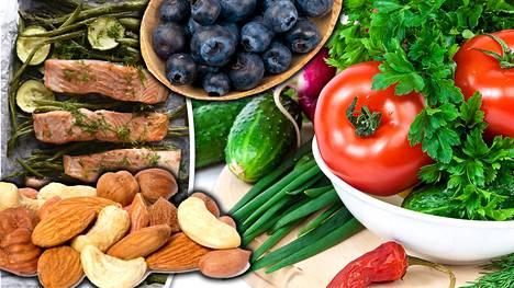 Kasvikset, marjat ja kala toistuvat eri ikäisten ravintosuosituksissa.