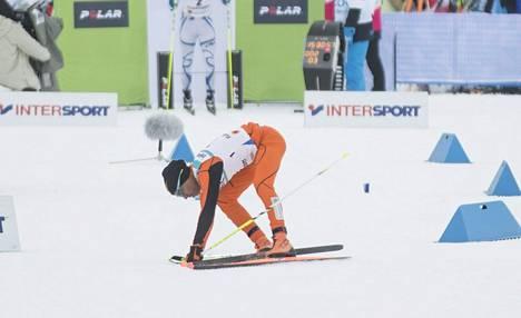 Jo hiihtorupeaman startti oli Solanolle hankala.