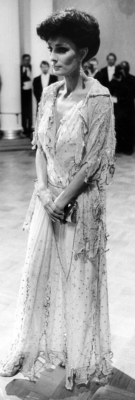 Maria Melin vuoden 1982 juhlissa.