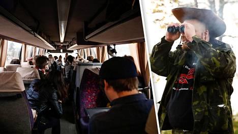 Kameran tai kiikarin mukaansa tuoneita muistutettiin, ettei yksityisalueita saa kuvata tai tirkistellä.