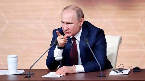 Vladimir Putin nousi ensi kertaa Venäjän presidentiksi tasan 20 vuotta sitten. Hän piti vuotuista lehdistötilaisuuttaan Moskovassa 19. joulukuuta tänä vuonna.