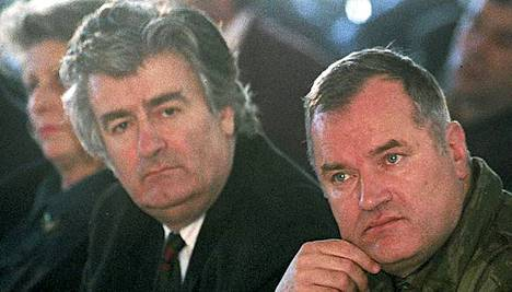 Radovan Karadzic ja Ratko Mladic olivat Bosnian sodan arkkitehteja.