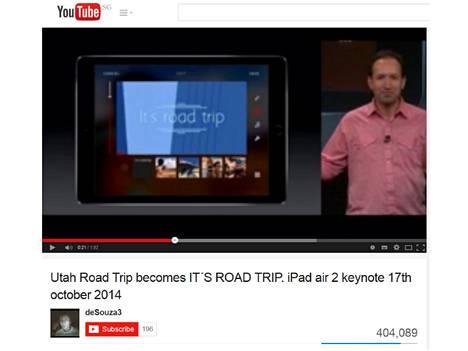 It's road trip -moka on saanut Youtubessa jo yli 400 000 katselukertaa.