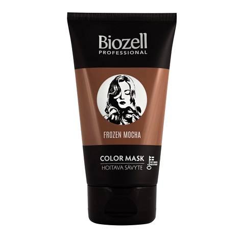 Biozellin sävyte on tarkoitettu värjättyjen hiusten sävyttämiseen ja hiusvärin ylläpitoon. Sävyte raikastaa vaaleat hiussävyt, lisää hiusvärin syvyyttä tummissa sävyissä, toimii värikäsittelyn aikana myös hoitonaamiona ja auttaa värjättyjä hiuksia pysymään kiiltävinä ja hyväkuntoisina. Sävytteet toimivat ilman hapetetta ja ammoniakkia eikä niissä ole parafenyleenidiamiinia (PPD) tai sen johdannaisia, joita yleisesti käytetään hapetettavissa kestoväreissä. Professional Color Mask Hoitava Sävyte 9 € / 150 ml, 8 eri sävyä.