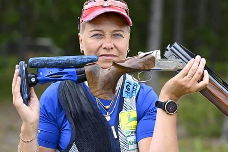 Satu Mäkelä-Nummela voitti trapin olympiakultaa 13 vuotta sitten.