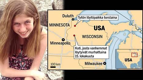 Jayme Closs, 13, löytyi elossa torstai-iltana Wisconsinissa.