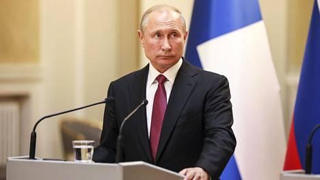 Putin kuvattiin Helsingissä keskiviikkona.