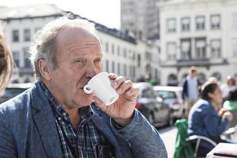 Ruoka Brysselissä on ollut hyvää, vaikka kahvikerma ei tällä kertaa maistunutkaan hyvältä.