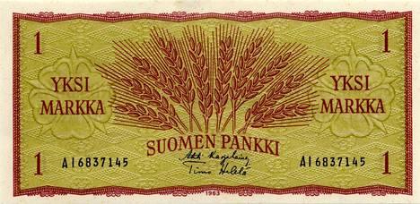 Jos markan setelissä vuodelta 1963 on Eigil Sacklénin allekirjoitus, arvo voi olla muutamia satoja euroja. Kuvan setelissä ei kuitenkaan ole Sacklénin allekirjoitusta.
