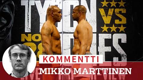 Mike Tyson ja Roy Jones Jr. kohtaavat odotetussa näytösottelussa varhain sunnuntaiaamuna Suomen aikaa.