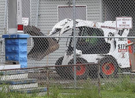 Ariel Castron talo purettiin elokuussa 2013.