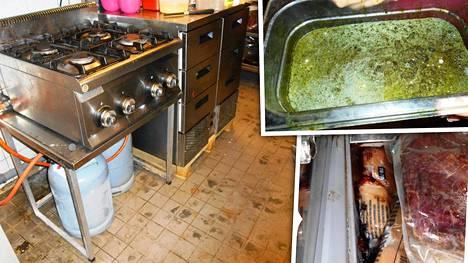 Intialaisravintolan keittiö oli likainen ja haiseva, vaikka toiminta oli vasta alkanut.
