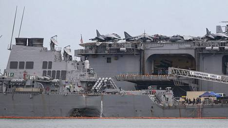 Sota-alus USS John S. McCain törmäsi öljytankkeriin viime viikolla Singaporen edustalla.