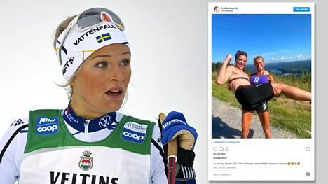 Frida Karlsson menee kovaa ladulla. Hiihtäjän hurja kesäkunto enteilee vauhdin vain kovenevan olympiatalvena.