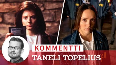 Jodie Foster 30 vuotta sitten ilmestyneen Uhrilampaat-elokuvan FBI-agenttina Clarice Starlingina. Uudessa jännityssarjassa samaa hahmoa esittää australialainen Rebecca Breeds.