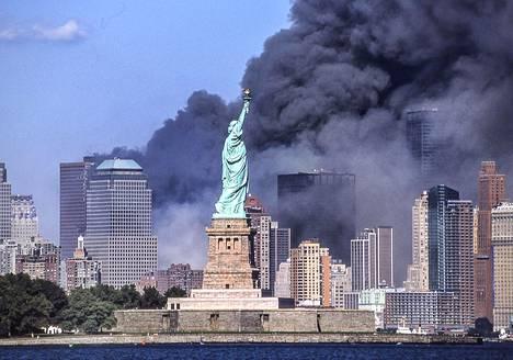 New Yorkissa palo näkyi kauas.
