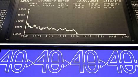 Kurssilaskua on nähty tänään muun muassa Frankfurtin pörssissä.