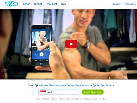 Skypen Qik tukee myös suomea.