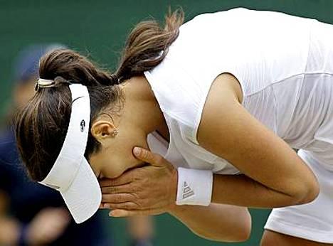 Ana Ivanovicin putoaminen Wimbledonista oli päivän jättiyllätys.