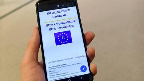 EU:n koronatodistus on Suomen koronapassi.