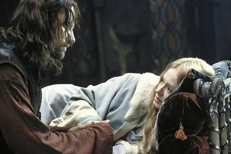 Aragornin roolissa on Viggo Mortensen ja Èowynin Miranda Otto.