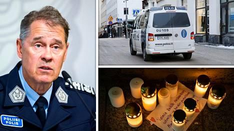 Poliisiylijohtaja Seppo Kolehmainen korostaa, että poliisi yrittää tehdä parhaansa rikosten selvittämisessä ja niiden ennaltaehkäisemisessä. Lauantaina oululaisen kauppakeskus Valkean eteen oli tuotu kynttilöitä tapaukseen liittyen.