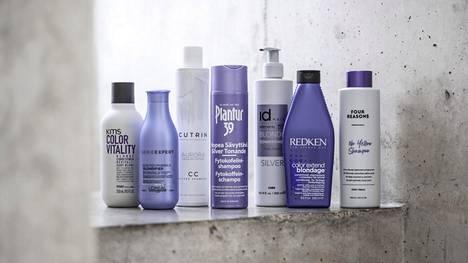 Silver-tuotteiden violetit pigmentit taittavat hiusten kellertäviä sävyjä pois ja saavat tukan hehkumaan viileänä.
