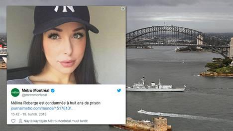 Melina Roberge tuomittiin Sydneyssa vankeuteen.