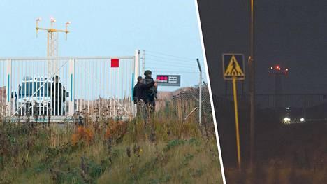 Lentokoneita kuvaamaan tulleet miehet ottivat kuvan paikalla olleista poliiseista. Myöhemmin poliisi vaati poistamaan kuvat.