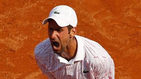 Novak Djokovic purki turhautumistaan Roomassa.