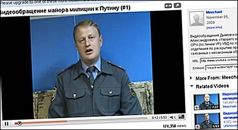 Aleksei Dymovski pyysi videossa, että Putin puuttuisi korruptioon ja viattomien ihmisten vangitsemiseen.
