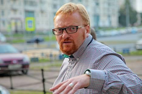 Pietarilainen kansanedustaja Vitali Milonov on yksi Aleksei Navalnyin tiimin inohkeista.