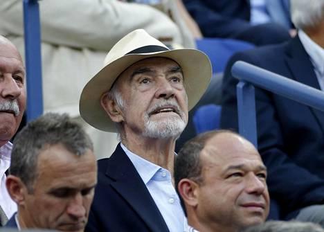 Connery kuvattuna tenniskatsomossa syyskuussa 2015.