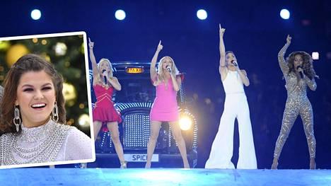 Saara Aallon mukaan hänet voidaan nähdä lavalla Spice Girlsin jäsenten kanssa.