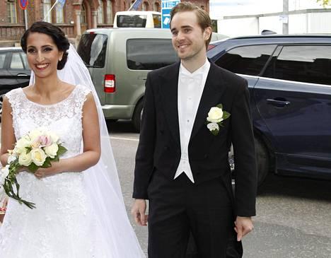Nasima Razmyar ja Johan Fager avioituivat toukokuun 16. päivä viime vuonna.