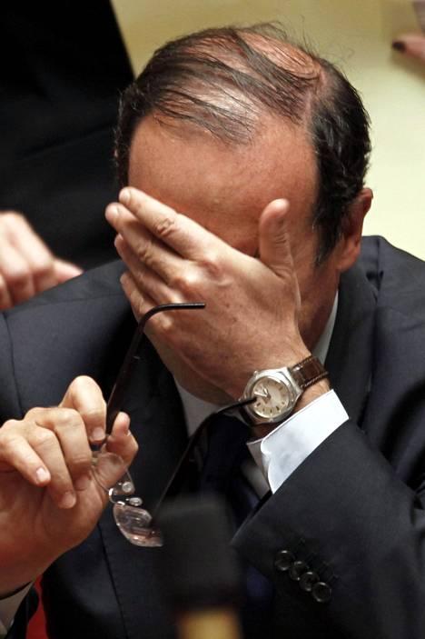 Ranskan presidentti Francois Hollanden näkemys.