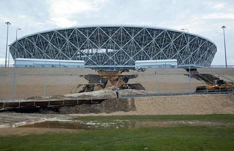 Volgogradin areenan ympäristö on lohduton näky.