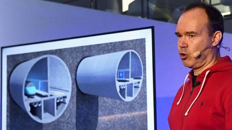 Peter Vesterbacka tiimeineen kertoi yksityisen Helsinki-Tallinna -tunnelihankkeen edistymisestä tiedotustilaisuudessa Helsingissä 3. joulukuuta 2018.