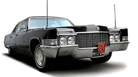 Presidentin käytössä ollut vuoden 1969 Cadillac Fleetwood