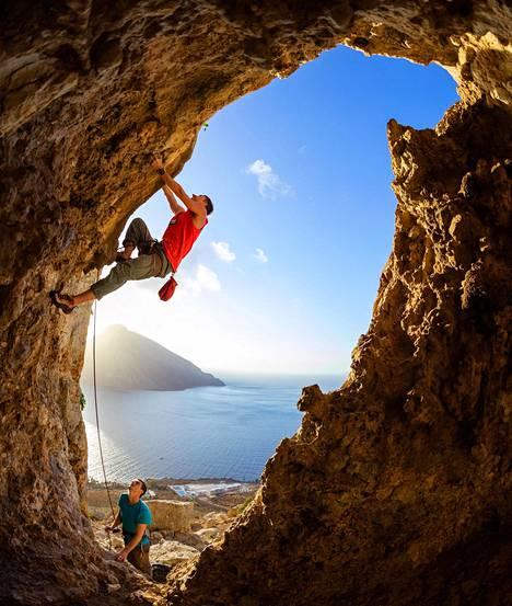Kreikassa sijaitseva Kalymnoksen saari on mieluisa matkakohde kalliokiipeilijöille.