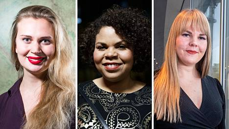 Amanda Pasanen, Fatim Diarra ja Alviina Alametsä.