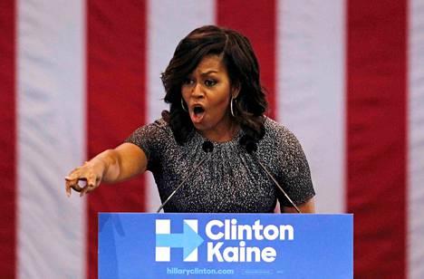 Michelle Obama on noussut Hillary Clintonin vaalikampanjan kirkkaimmaksi tähdeksi.