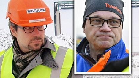 Ville Niinistön kypärässä luki aikanaan Talvivaara. Juha Sipilän pipossa luki eilen Terrafame.