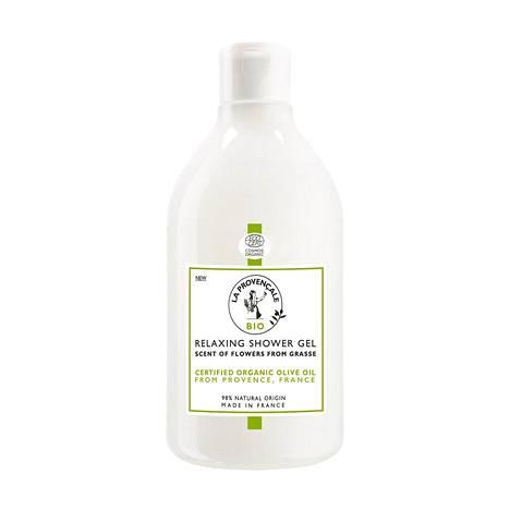 La Provencale Bio -sarjan Relaxing Shower Gel -suihkugeeli on erinomainen pesuaine koko perheelle. Miedon tuoksuinen suihkugeeli pesee ihon hellästi, ja siinä on mukana kosteuttavaa oliiviöljyä. Iso purkki kestää käytössä pitkään. 11,50 € / 500 ml.