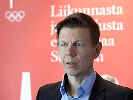 Olympiakomitean toimitusjohtaja Mikko Salonen.