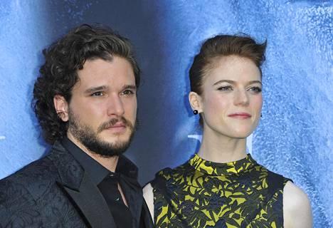 Kit Haringtonin vaimo Rose Leslie näytteli Game of Thronesissa Ygritteä.
